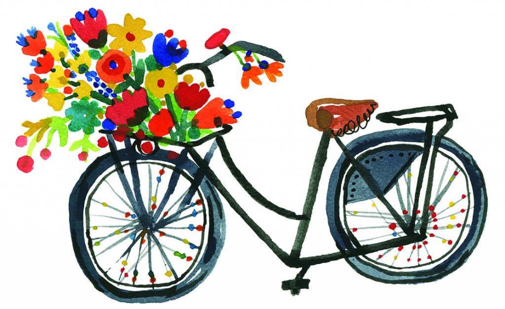 Blackbikewithflowers