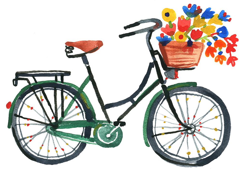 GreenBikewithFlowers