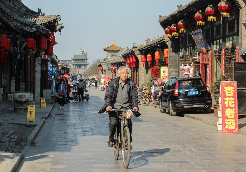 Bike street scene, Pingyao-3
