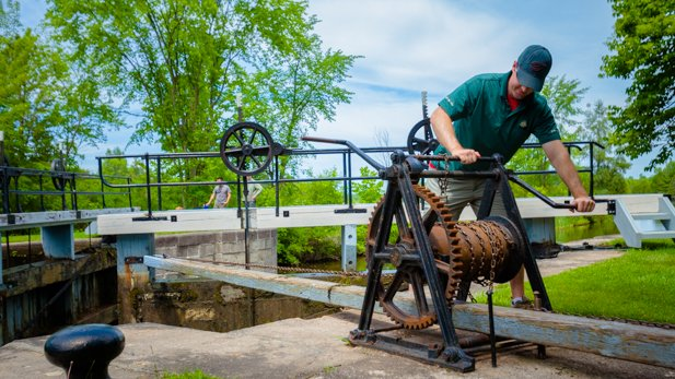 Parks Canada maintains and operates the Rideau Canal, Ontario's only UNESCO World Heritage site. Each year, thousands of boats travel through the locks which are still hand operated the way they were when the canal opened in 1832.