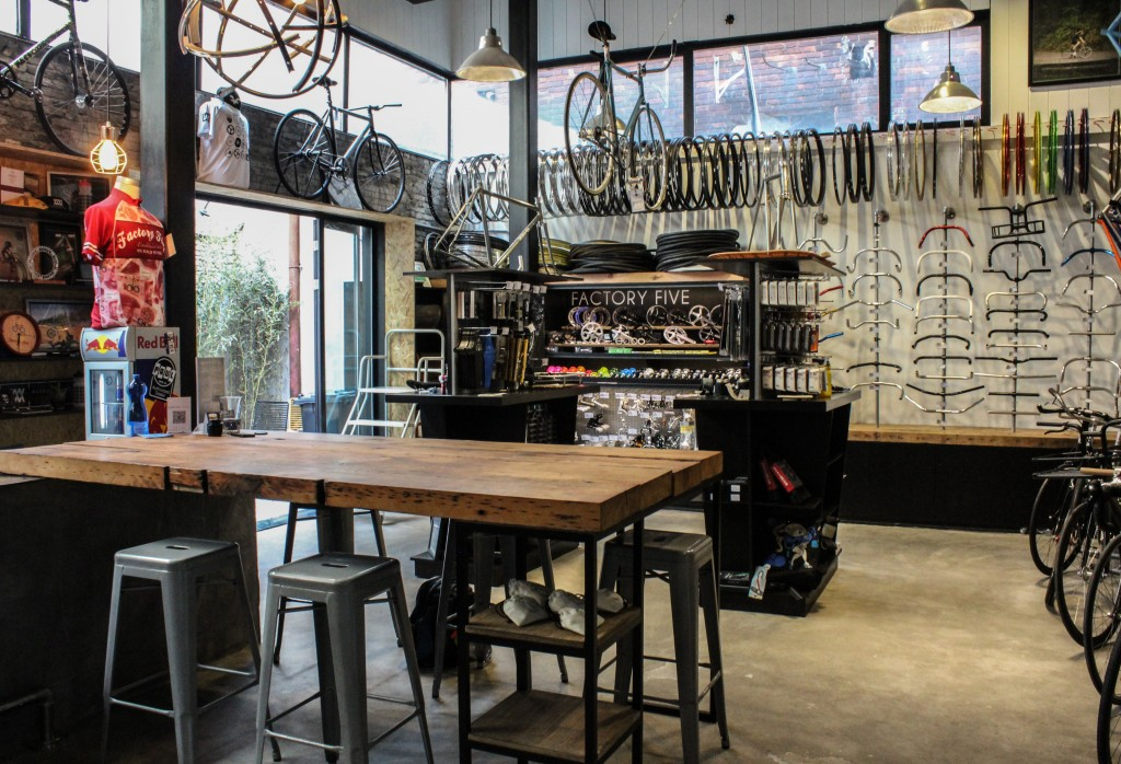 Shop interior, home to bikes-of-your-dreams, massive parties.